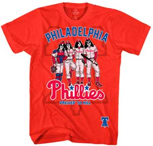 d0f2fdcc Item#: KB118 Group:MLB - PHILADELPHIA PHILLIES PHILADELPHIA PHILLIES KISS  DRESSED TO KILL MENS T-SHIRT Color: RED Size: M Size: L Size: XL Size:  2XL+$1.00