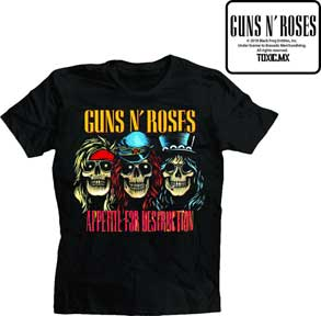 Official Guns N Roses 30th Anniversary T-Shirt Appetite For Destruction 1985 GNR