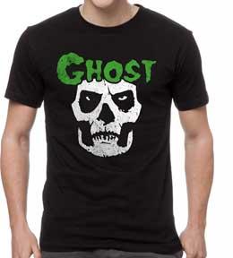 L M Misfits Skull With Eye S 2XL Black Mineral Wash T-Shirt XL